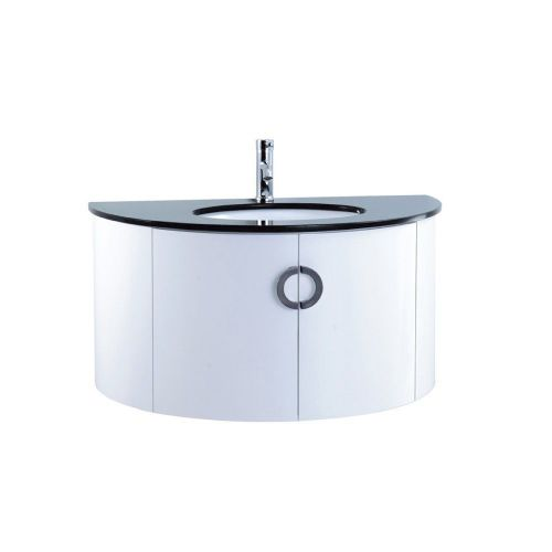Valencia 1000mm White Gloss Wall Hung Cabinet & Basin - 1 Tap Hole